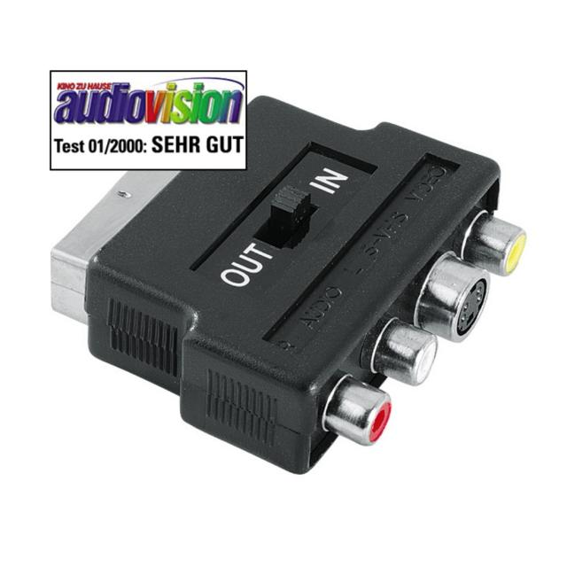 Hama Video Adapter 4-pin S-VHS/3x RCA to Scart