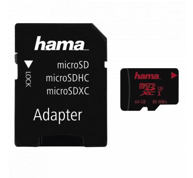 Hama microSDXC 64GB UHS Speed Class 3 UHS-I 64GB