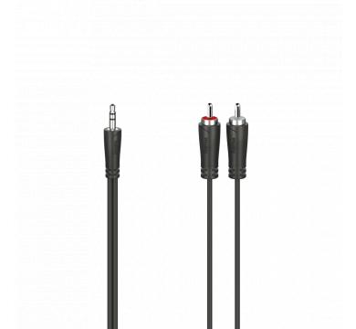 Hama Audio Cable 3.5 mm Jack Plug - 2 RCA Plugs