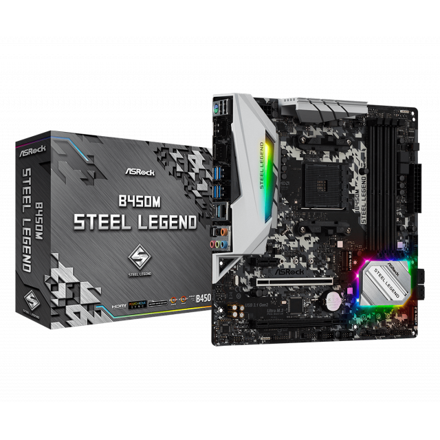 AMD Ryzen 5 2600 + ASRock B450M Steel Legend