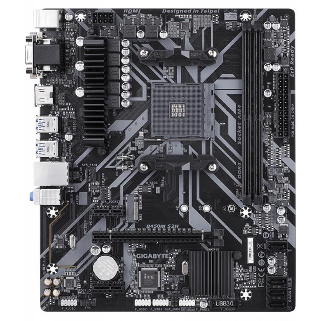 GIGABYTE B450M S2H + HyperX Fury 8GB 3000MHz