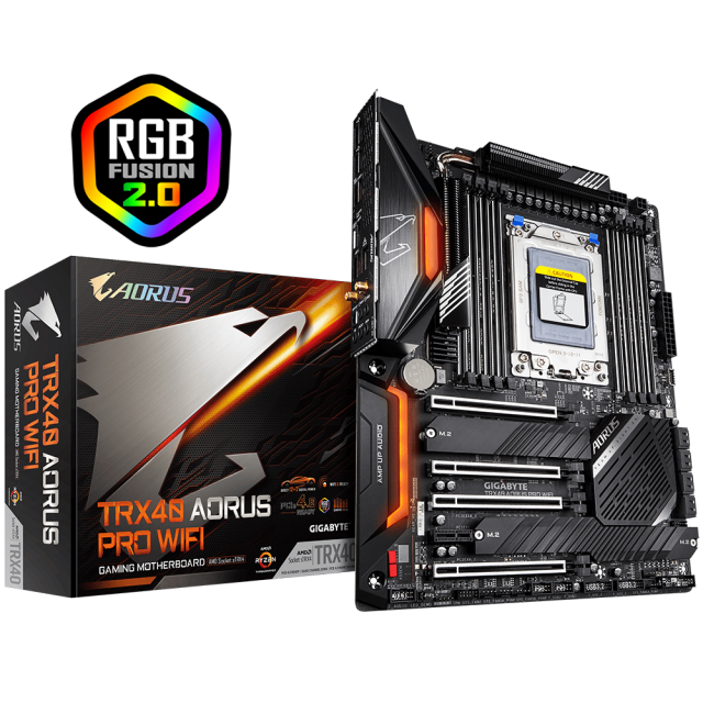 AMD Ryzen Threadripper 3960X + GIGABYTE AORUS TRX40-PRO Wi-Fi