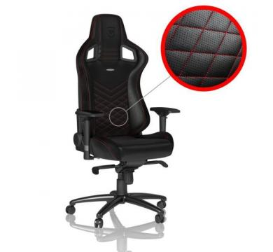noblechairs EPIC (Black/Red) + Florpad King's Throne