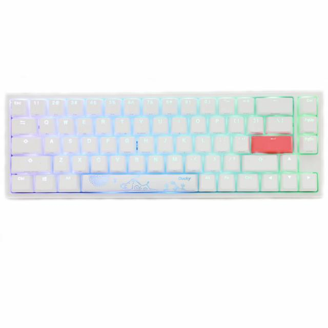 Ducky One 2 SF White (Red) + Glorious Model D (Glossy White)