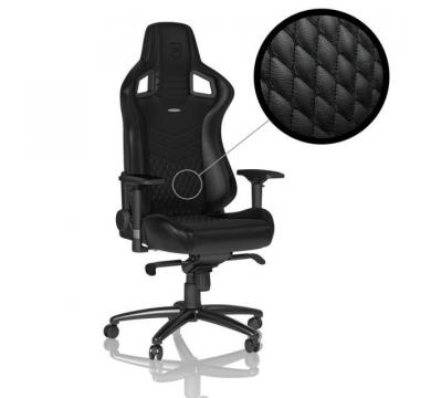 noblechairs EPIC Real Leather (Black) + Florpad NaVi
