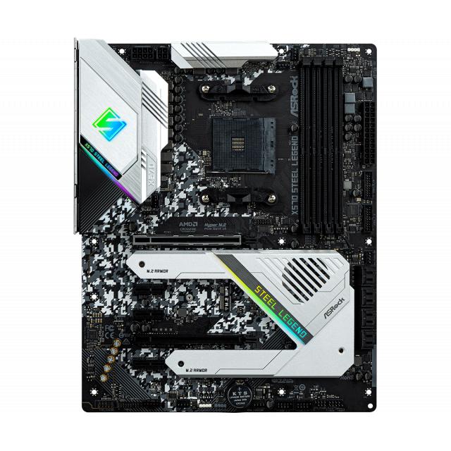 ASRock X570 Steel Legend + T-Force NIGHT HAWK RGB 16GB (2x8GB) 3200MHz
