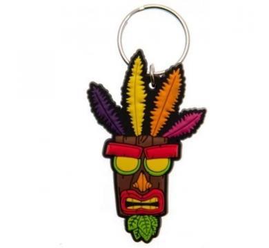 Pyramid International - Crash Bandicoot - Aku Aku Rubber Keychain