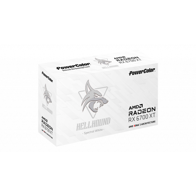 PowerColor Hellhound Spectral White AMD Radeon RX 6700 XT 12GB