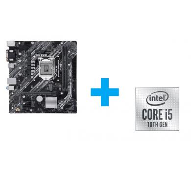 ASUS PRIME B460M-K + Intel Core i5-10400F Tray