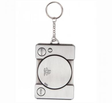 PlayStation - Console Metal Keychain 3D