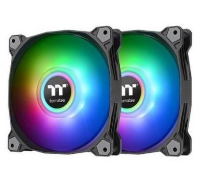 Thermaltake Pure Duo 12 ARGB Sync Radiator Fan (2-Fan Pack)-Black