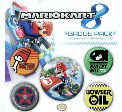 Pyramid International - Nintendo - Mario Kart 8 Badge Pack