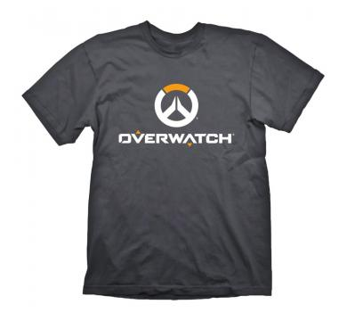 "Overwatch T-Shirt ""Logo"" White/Orange on Grey"