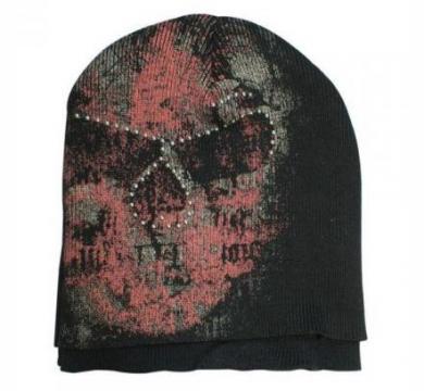 Alchemy - Double Layers Skull Beanie W/ Stone