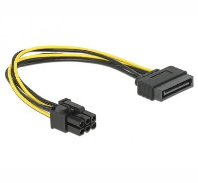 DeLock Power SATA 15 pin to 6 pin PCI Express