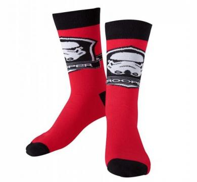 Star Wars Black and Red Socks with Stormtrooper Logo