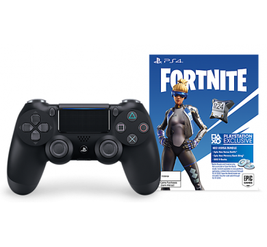 Sony DualShock 4 Jet Black - Fortnite Neo Versa Bundle