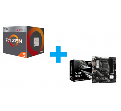 AMD Ryzen 3 3200G + ASRock B450M Pro4-F