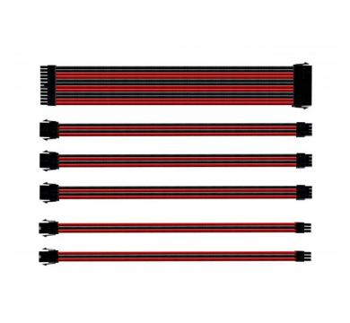 SLEEVED EXTENSION CABLE KIT - RED & BLACK