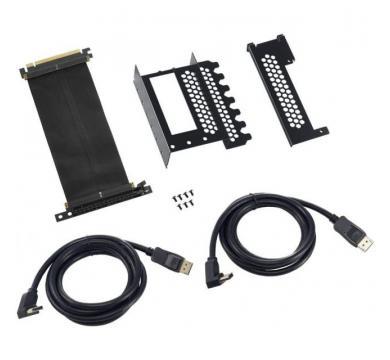 CableMod Vertical PCI-e Bracket - 2 x DisplayPort - BLACK