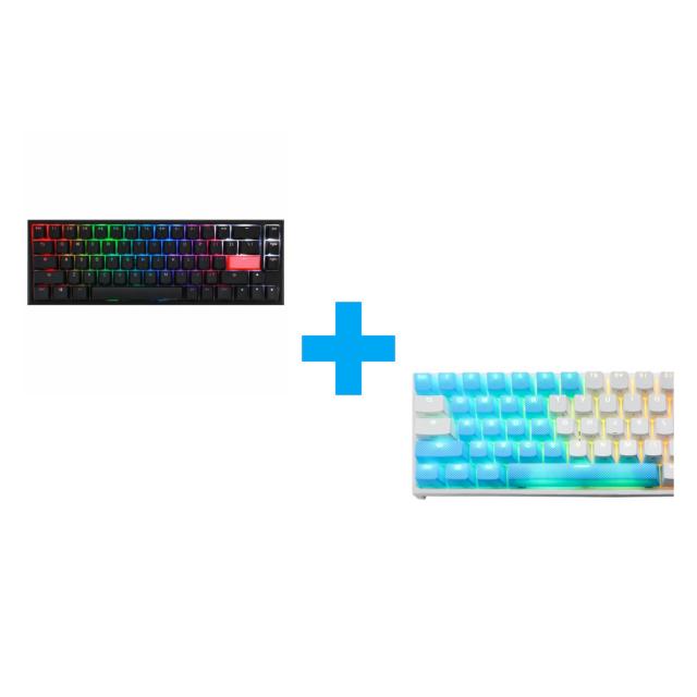 Ducky Blue 31-Keycap Set + One 2 SF (Cherry MX Blue)