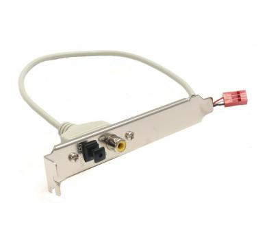 Gigabyte 3-pin to Toslink, RCA