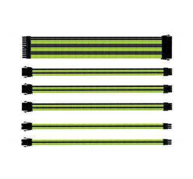 SLEEVED EXTENSION CABLE KIT - GREEN & BLACK