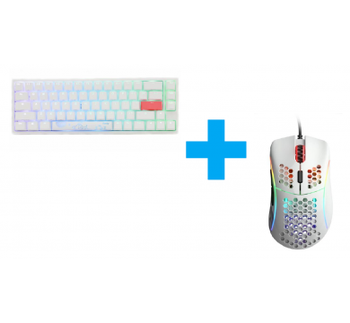 Ducky One 2 SF White (Silver) + Glorious Model D (Glossy White)