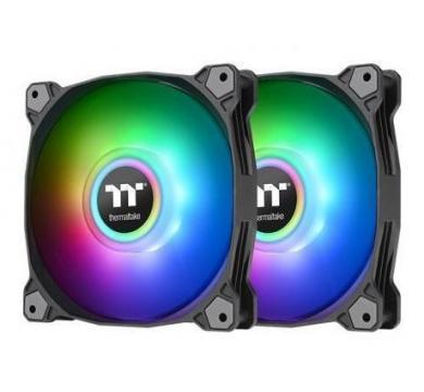 Thermaltake Pure Duo 14 ARGB Sync Radiator Fan (2-Fan Pack)-Black