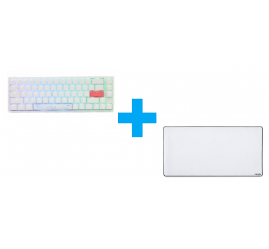 Ducky One 2 SF White (Red) + Glorious XXL Extended