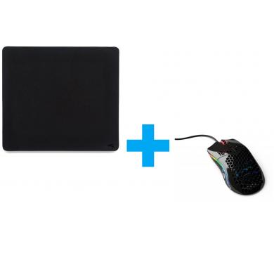 Glorious Model O- (Glossy Black) + L Stealth Mousepad