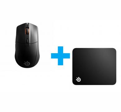 SteelSeries Rival 3 Wireless + SteelSeries QcK Edge L