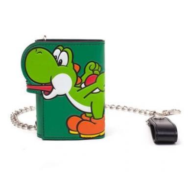Super Mario - Yoshi Tongue Tri-Fold Chain Wallet