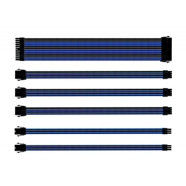 SLEEVED EXTENSION CABLE KIT - BLUE & BLACK