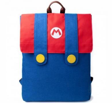 Super Mario - Mario Denim Suit Flap Backpack