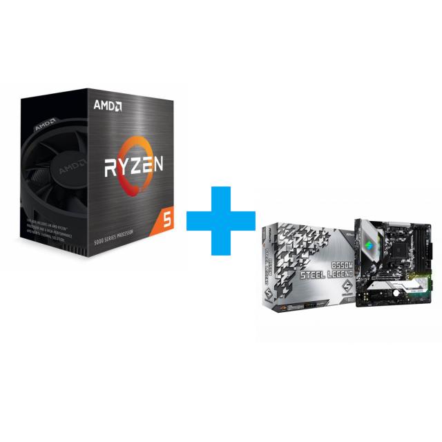 AMD Ryzen 5 5600X + ASRock B550M Steel Legend