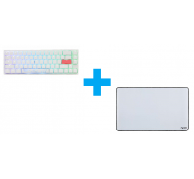 Ducky One 2 SF White (Silver) + Glorious XL Extended