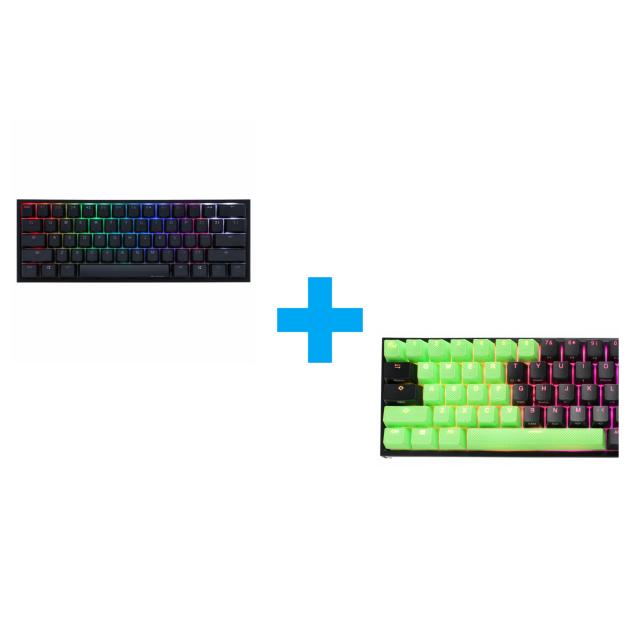 Ducky Green 31-Keycap Set + One 2 Mini V2 (Cherry MX Black)