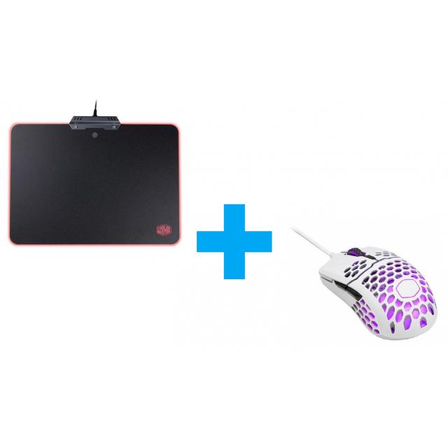 Cooler Master RGB Hard Mousepad+MM711 WH
