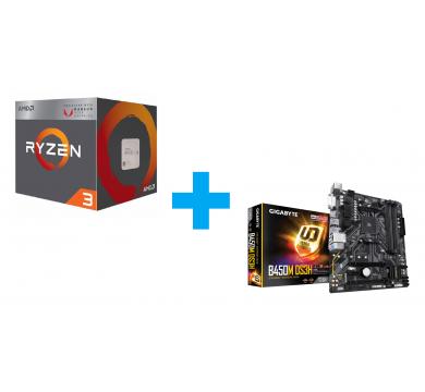 AMD Ryzen 3 3200G + GIGABYTE B450M DS3H