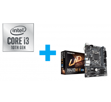 Intel Core i3-10100 Tray + GIGABYTE H410M-H