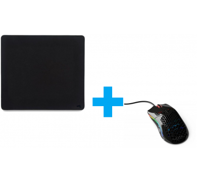 Glorious Model O (Glossy Black) + XL Heavy Stealth Mousepad