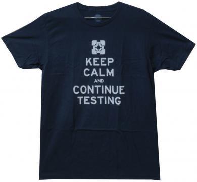 Portal 2 T-Shirt Keep Calm & Continue Testing