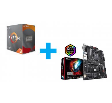 AMD Ryzen 3 3100 - GIGABYTE B450 Gaming X