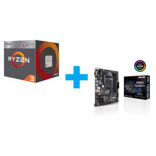 AMD Ryzen 3 3200G + ASUS Prime B450M-A