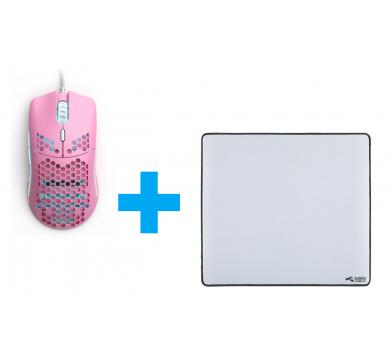 Glorious Model O (Matte Pink) + Glorious L White