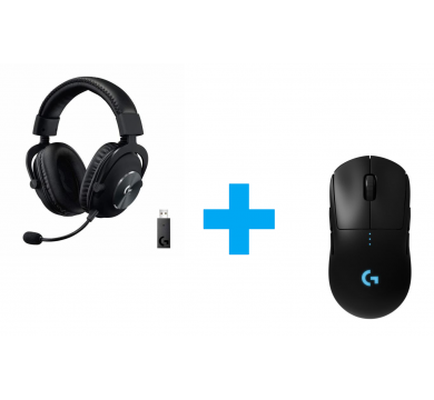 Logitech PRO X Wireless Headset + G Pro Lightspeed Wireless Mouse