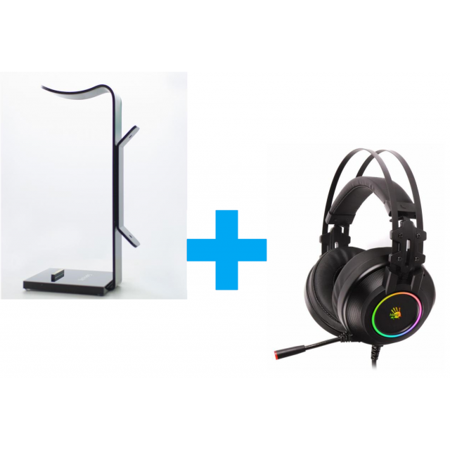 Gplay Headset Stand+Bloody G528C