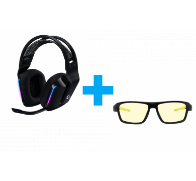 Gunnar Lightning Bolt 360 ESL (Onyx, Amber-Sun) + Logitech G733 Lightspeed Wireless RGB