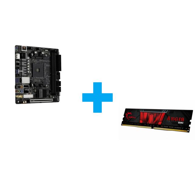 ASRock Fatal1ty B450 Gaming-ITX/ac + G.SKILL Aegis 16GB DDR4 3200MHz